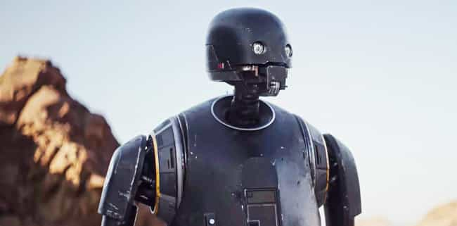 K-2SO is listed (or ranked) 3 on the list Smartass Robots You'd Want As Your Bestie