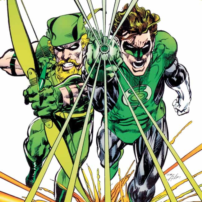 Green Lantern And Green Arrow is listed (or ranked) 4 on the list The 18 Most Beautiful Bromances In Comic Book History