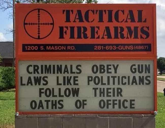 16 Funny Gun Signs All Firearm Owners Will Laugh At