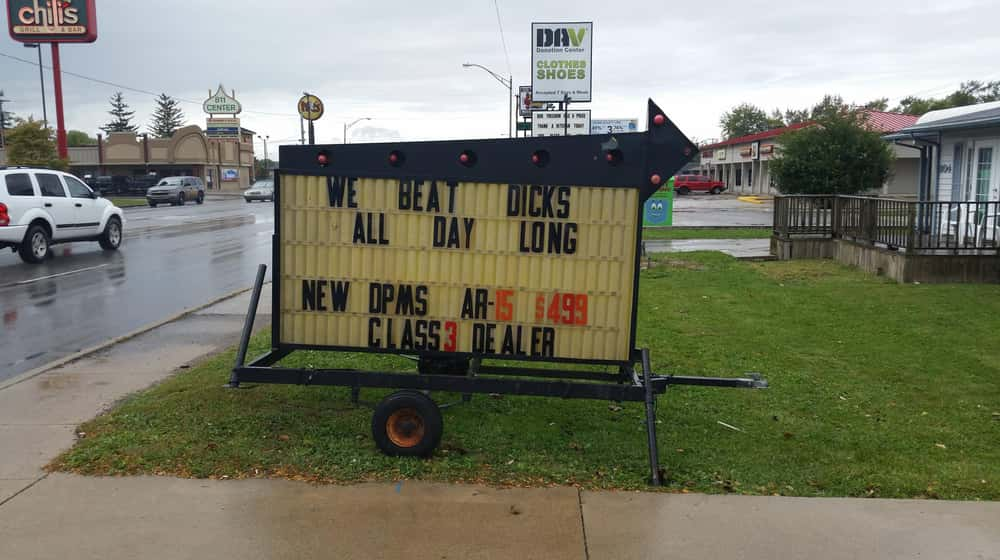 Can't Be Beat is listed (or ranked) 1 on the list 16 Funny Firearm Store Signs That Will Blow You Away