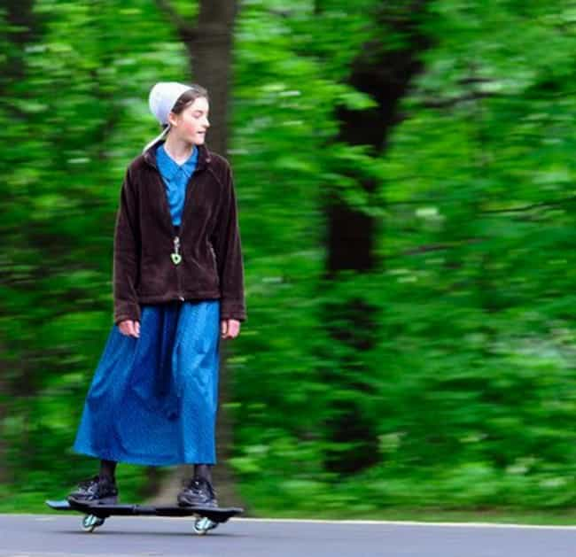 Skater Hater is listed (or ranked) 1 on the list 25 Ridiculous Pictures Of Amish People Doing Normal Things
