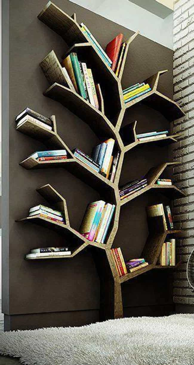 'The Giving Tree' Is R... is listed (or ranked) 3 on the list 23 Creative Bookshelves You'll Want In Your Future Home