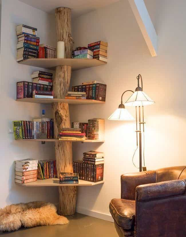 Very Hobbit Home, And By That ... is listed (or ranked) 4 on the list 23 Creative Bookshelves You'll Want In Your Future Home