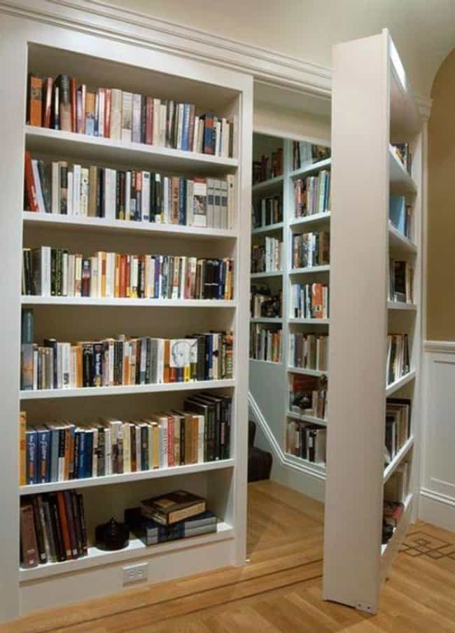 A Nesting Doll Of Bookcases is listed (or ranked) 2 on the list 23 Creative Bookshelves You'll Want In Your Future Home