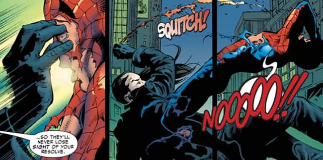 Morlun Eats Spider-Man's E... is listed (or ranked) 3 on the list The 13 Most Villainous Things Spider-Man Villains Have Ever Done