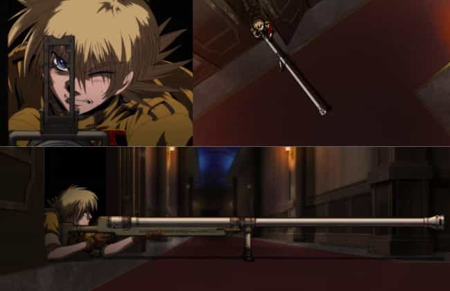 Harkonen From Hellsing is listed (or ranked) 3 on the list 16 Anime Weapons That Are Impossibly Big
