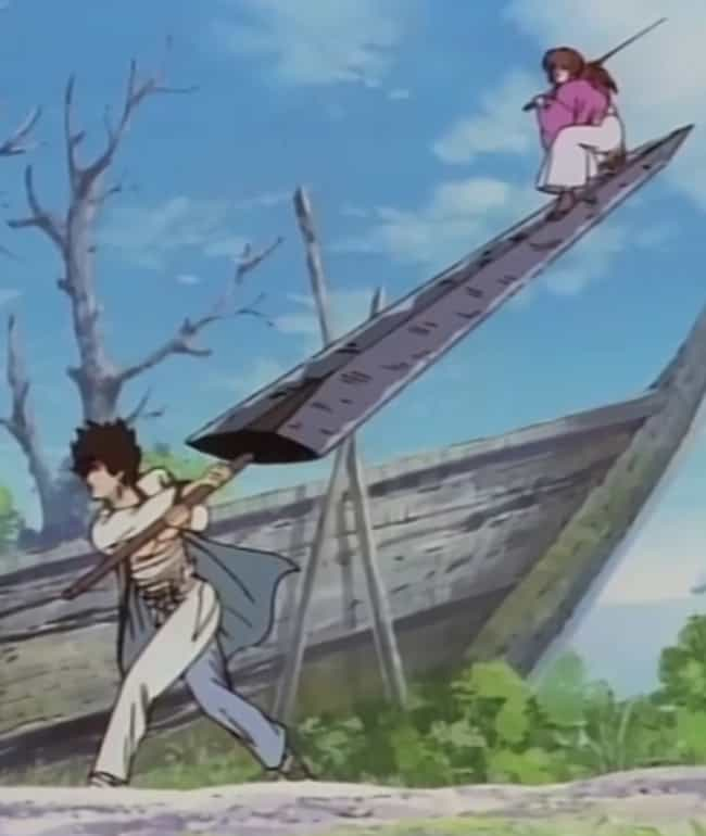 Zanbato From Ruroni Kenshin is listed (or ranked) 4 on the list 16 Anime Weapons That Are Impossibly Big