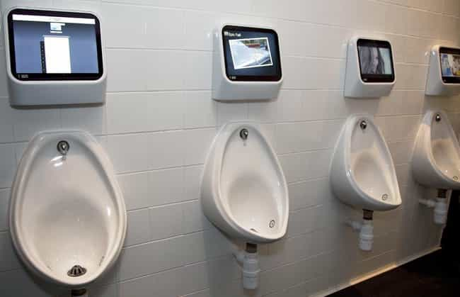 Interactive Urinals In England... is listed (or ranked) 6 on the list 16 Of The Craziest Public Toilets From Around The World