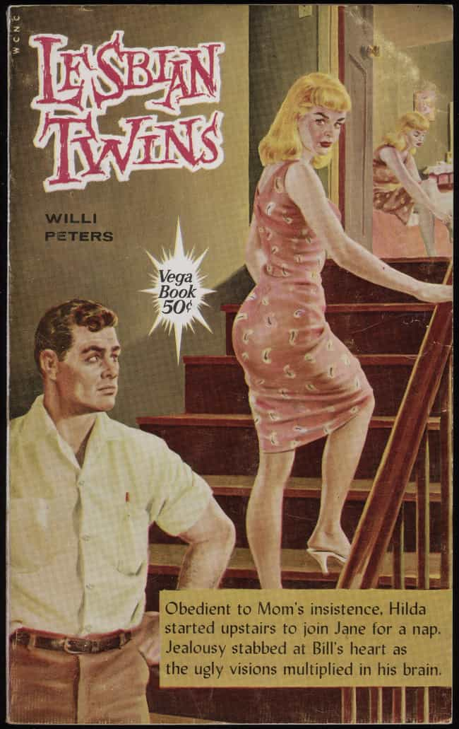 Lesbian Twins, 1960 is listed (or ranked) 2 on the list 30 Steamy Lesbian Novel Covers From the 60s That Were Kept In The Closet