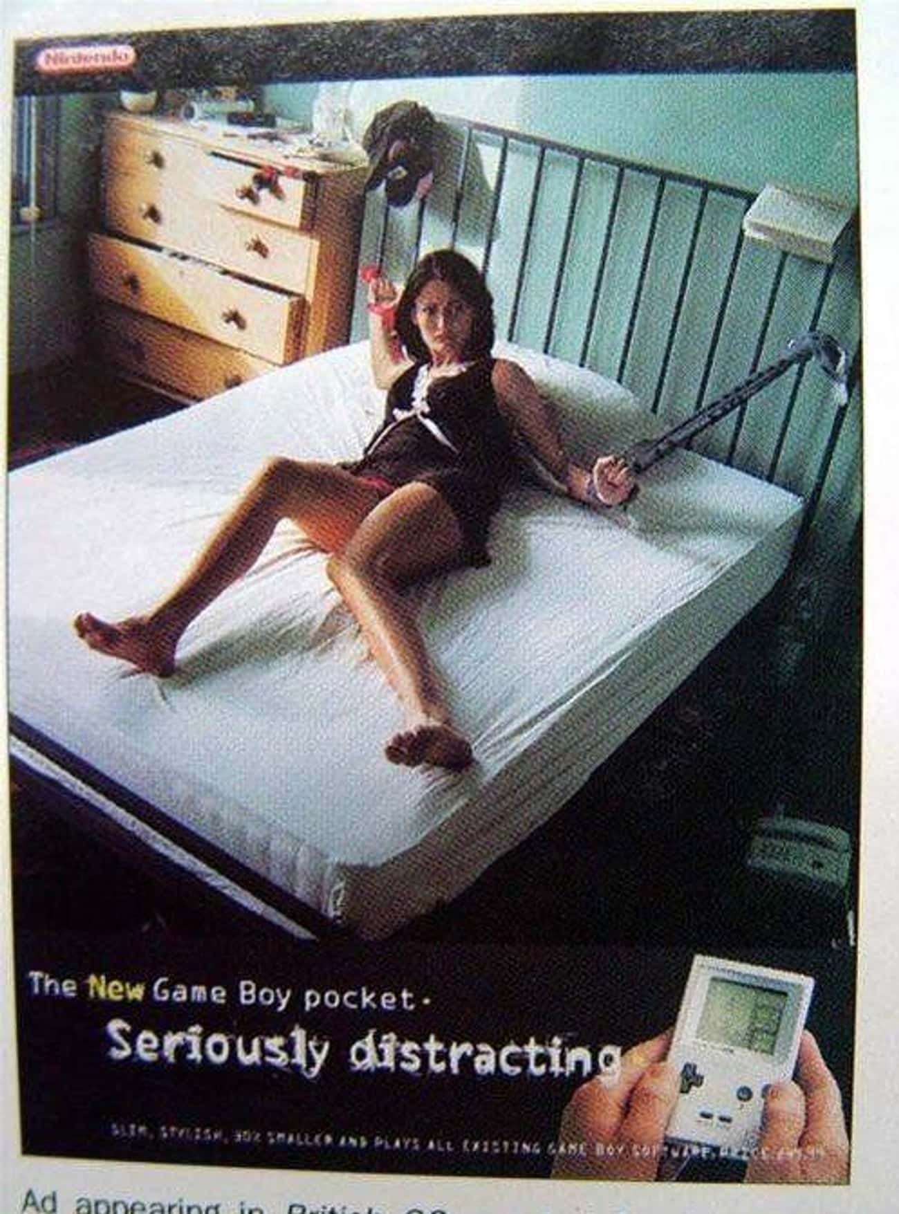 'Seriously Distracting' is listed (or ranked) 1 on the list 19 Old-School Video Game Ads That Are Mind-Blowingly Dirty