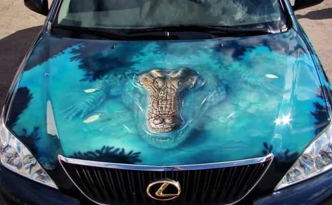 This Is Probably A Florida Veh... is listed (or ranked) 1 on the list 27 Of The Worst Custom Car Paint Fails Ever