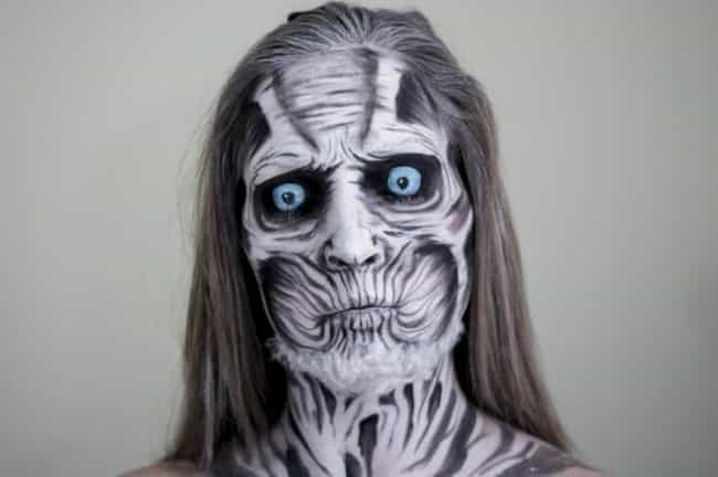 Fear The White Walker is listed (or ranked) 2 on the list 28 Pop Culture Face Paint Jobs That Are Freakishly Accurate