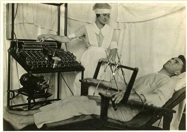 The First Human Electroshock E... is listed (or ranked) 2 on the list 11 Morbid Historical Facts About Electroconvulsive Therapy