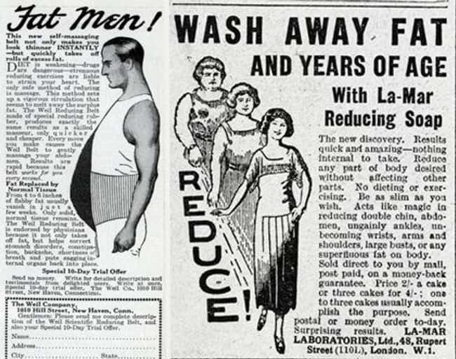 Jazz Age Women Tried To Wash T is listed (or ranked) 7 on the list 12 Horrifying Weight Loss Techniques People From History Actually Tried