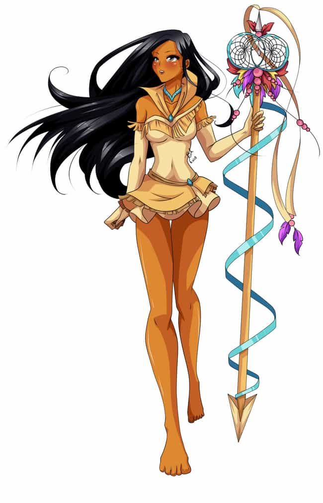 Sailor Pocahontas is listed (or ranked) 3 on the list 22 Disney Princesses As Sailor Moon Characters
