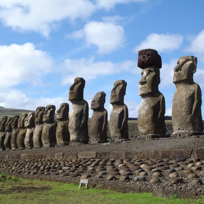 Easter Island is listed (or ranked) 3 on the list 13 Mysterious Ancient Societies That Historians Know Almost Nothing About