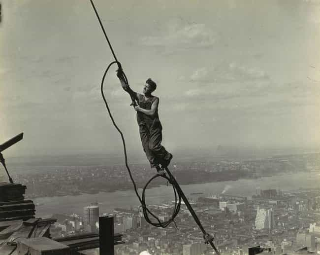 Icarus, High Up On Empir... is listed (or ranked) 4 on the list 23 Stunning Photos of the Empire State Building Under Construction