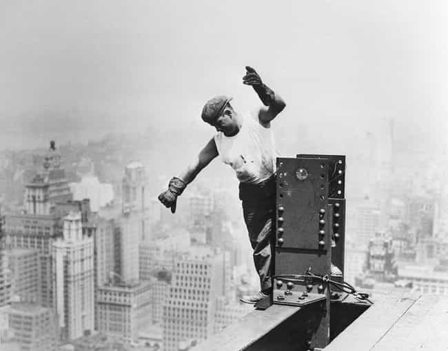 Worker On Empire State B... is listed (or ranked) 3 on the list 23 Stunning Photos of the Empire State Building Under Construction