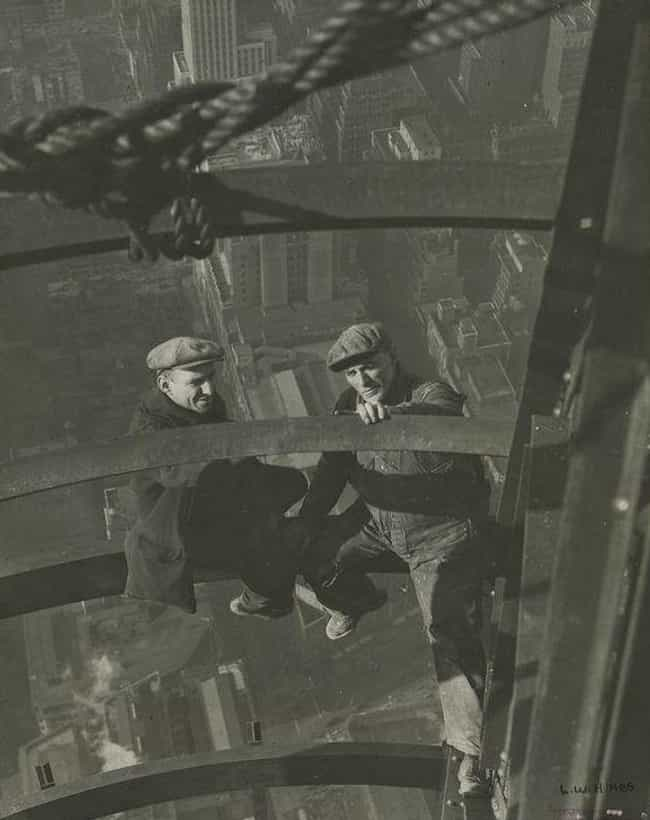Two Workers Inspecting S... is listed (or ranked) 1 on the list 23 Stunning Photos of the Empire State Building Under Construction
