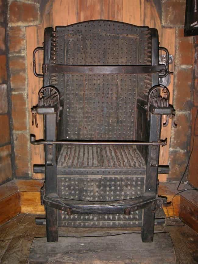 The Iron Chair is listed (or ranked) 1 on the list 12 Jaw-Droppingly Evil Torture Devices Used Throughout History