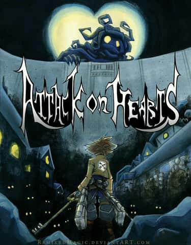 Attack On Titan X Kingdom Hear is listed (or ranked) 2 on the list 27 Epic Kingdom Hearts Mashups You Would Pay To Play