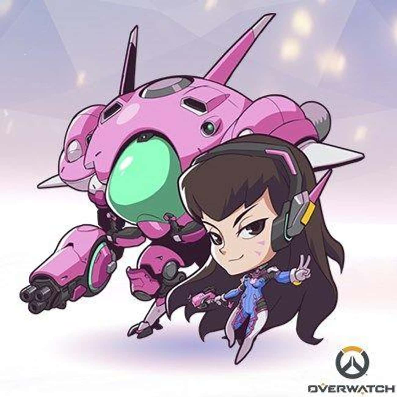 D.va is listed (or ranked) 2 on the list Overwatch Heroines You'd Want to Have a Romantic Dinner With