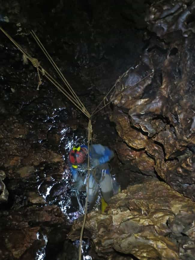 Descent Into Utter Maddn... is listed (or ranked) 4 on the list 20 Beyond Creepy Cave Photos That Will Trigger Your Speluncaphobia