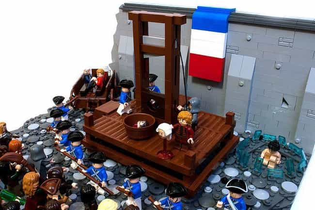 Execution Of Robespierre, 1794 is listed (or ranked) 1 on the list Horrifying Historical Scenes You Won't Believe Anyone Re-Created In Lego
