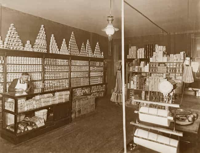 Interior View Of A Chica... is listed (or ranked) 2 on the list 30 Vintage Photos Of Grocery Stores That Are Beyond Fascinating
