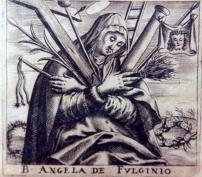 Angela of Foligno Ate Sc... is listed (or ranked) 2 on the list Ancient and Medieval Saints Who Tested Themselves In Bizarre And Disgusting Ways