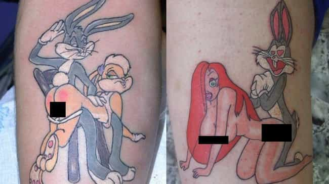 50 Shades Of Gray Rabbit... is listed (or ranked) 1 on the list 22 Adult Tattoos Of Kids' Shows That'll Corrupt Your Childhood