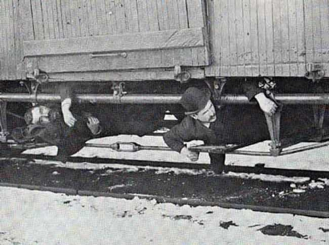 Two Hobos, Riding On The Rods,... is listed (or ranked) 4 on the list Surprising Pictures Of American Hobos Riding The Rails
