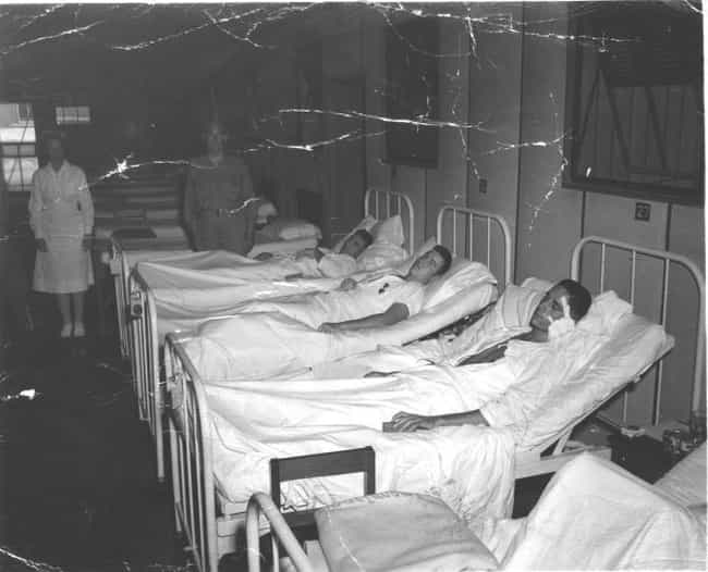Soldiers Injured in the Battle... is listed (or ranked) 4 on the list 16 Haunting Photographs of WWII Hospitals