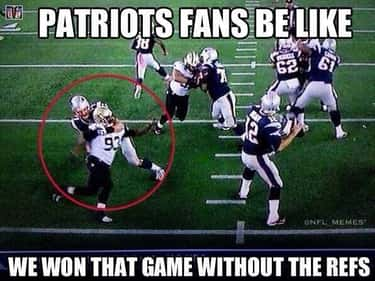 A Moment Of Pause is listed (or ranked) 2 on the list Memes To Express Why Patriots Fans Are The Worst