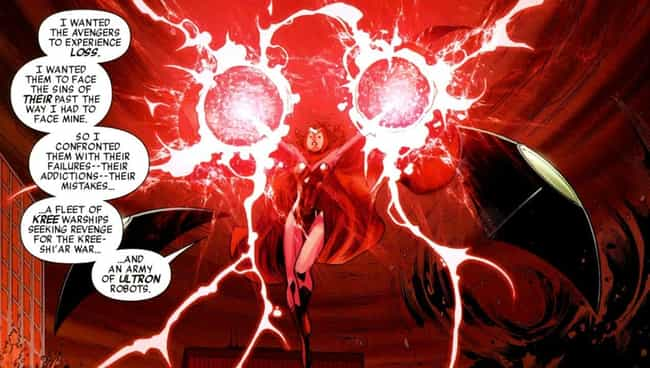 She Killed Several Avengers In... is listed (or ranked) 4 on the list 11 Of The Craziest, Most Inexplicable Things Scarlet Witch Has Ever Done
