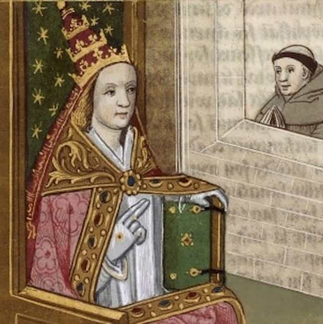 Pope Joan Likely Pretended To ... is listed (or ranked) 1 on the list 11 Bizarre Theories About Pope Joan, The Female Pope Who May Have Not Existed