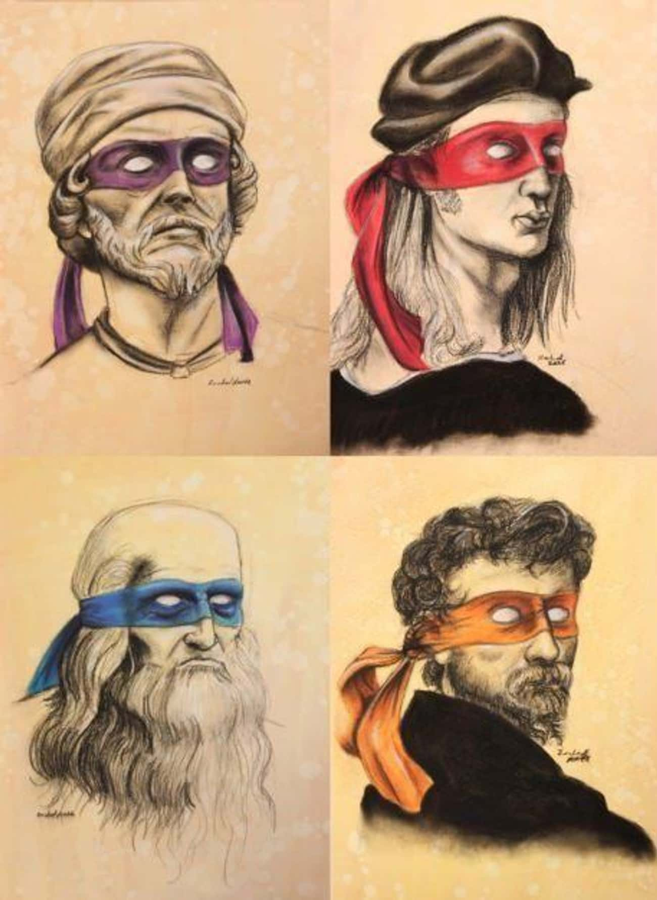 The Originals is listed (or ranked) 3 on the list 22 Pop Culture Icons Reimagined As Teenage Mutant Ninja Turtles