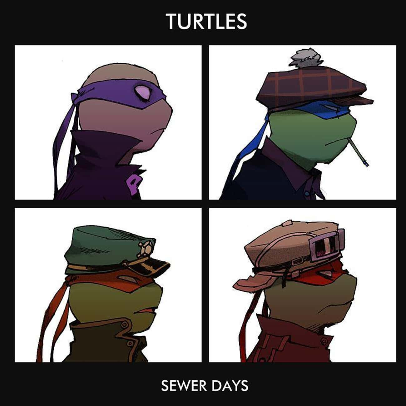 Sewer Days is listed (or ranked) 2 on the list 22 Pop Culture Icons Reimagined As Teenage Mutant Ninja Turtles