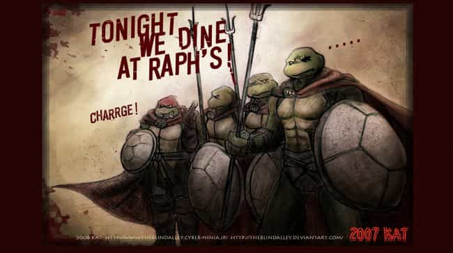 Tonight, We Dine, At Raph'... is listed (or ranked) 4 on the list 22 Pop Culture Icons Reimagined As Teenage Mutant Ninja Turtles