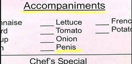 Image of Random Hilarious Menu Fails You Wish You Caught