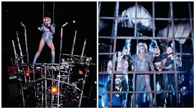 Mad Max: Beyond Studio 54 is listed (or ranked) 3 on the list 17 Things Lady Gaga Looked Like At Super Bowl LI