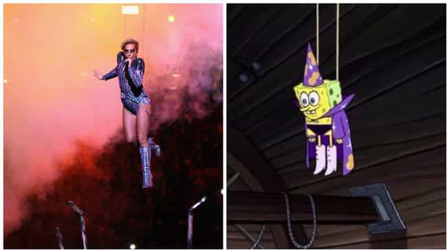 Bad Romance Is Great, But It&#... is listed (or ranked) 1 on the list 17 Things Lady Gaga Looked Like At Super Bowl LI