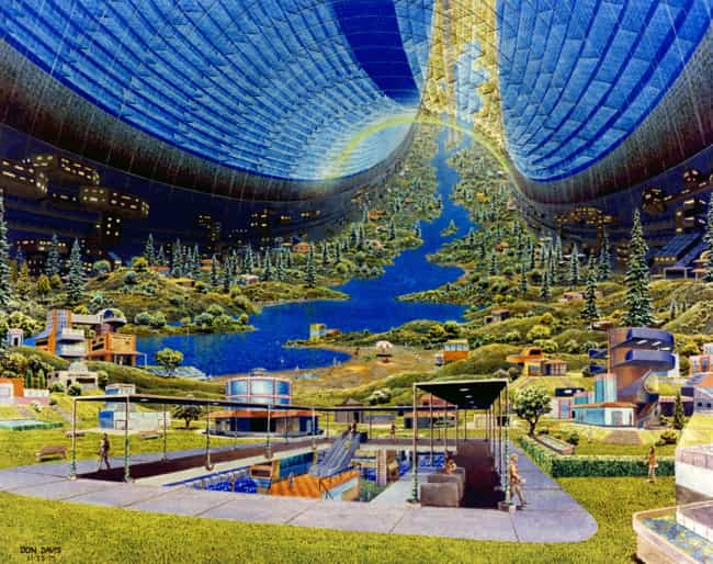 Toroidal Colony: Interior View is listed (or ranked) 4 on the list 16 Insane Concept Drawings of What 1970s Nasa Thought The Future Would Be