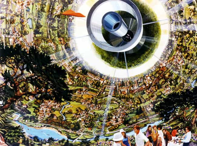 Bernal Sphere: Interior, Inclu... is listed (or ranked) 2 on the list 16 Insane Concept Drawings of What 1970s Nasa Thought The Future Would Be