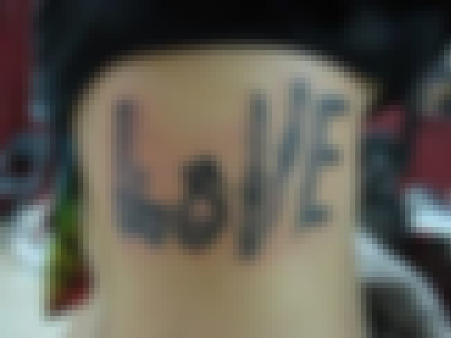 "Love Is A Battlefield is listed (or ranked) 4 on the list The 28 Worst ""True Love"" Tattoos Of All Time"