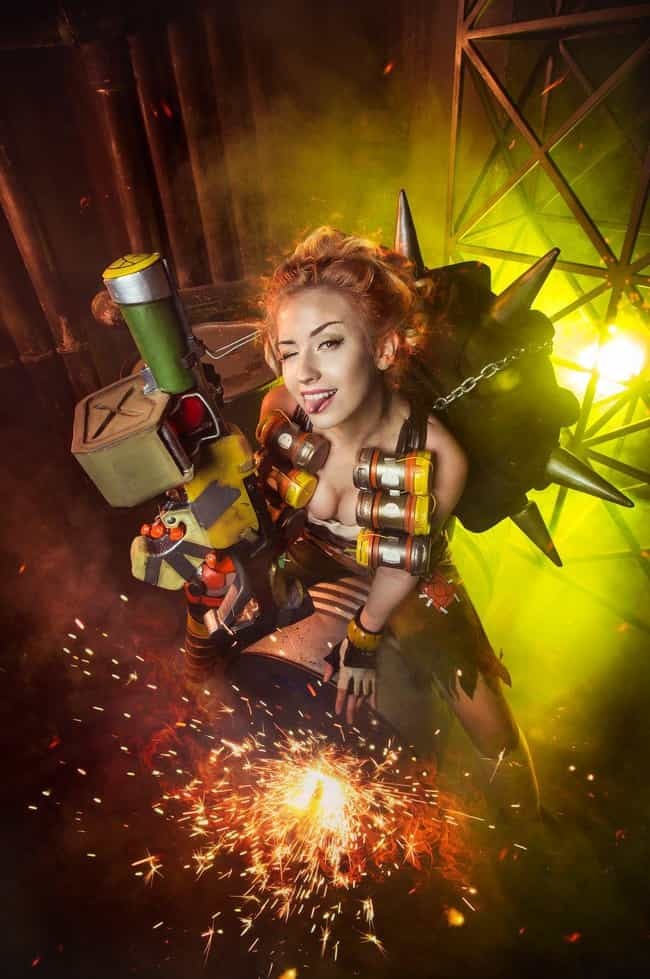 Junkrat's Fire In The Hole... is listed (or ranked) 2 on the list 25 Brilliant Gender Bend Overwatch Cosplays