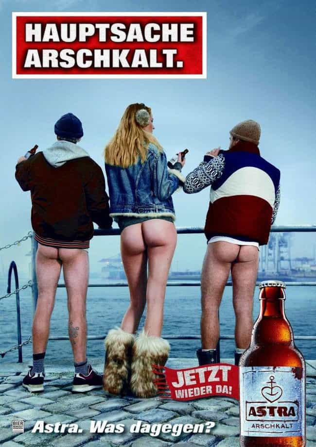 The No-Pants Beer is listed (or ranked) 2 on the list 22 Bizarre And Inappropriate Foreign Beer Ads