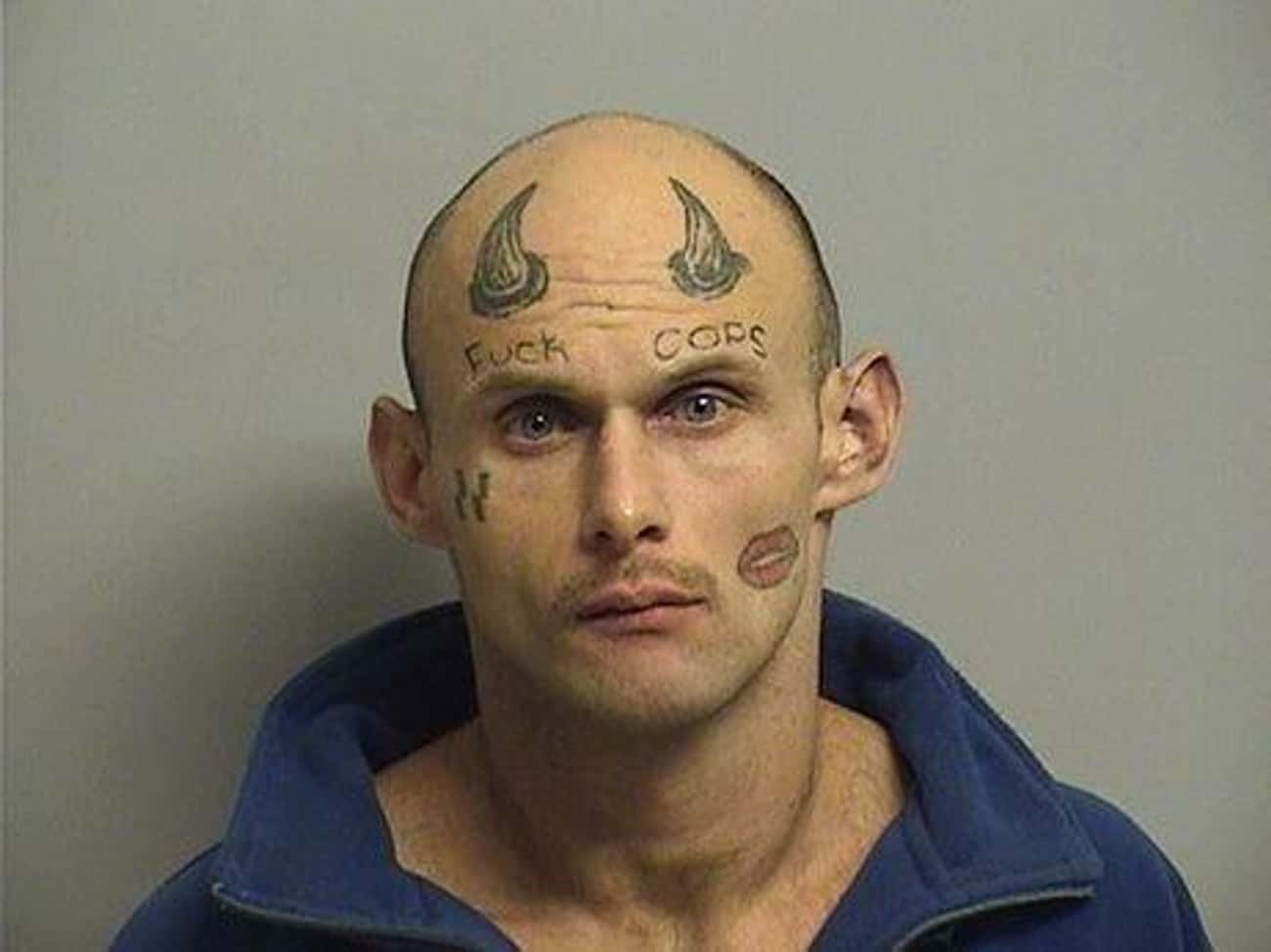 Straight Outta Common Sense is listed (or ranked) 1 on the list The Most Out-Of-Control Face Tattoos Captured By The Mugshot Camera