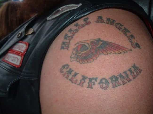 Hell's Angels is listed (or ranked) 3 on the list 11 Common Gang Tattoos You've Probably Seen Without Knowing