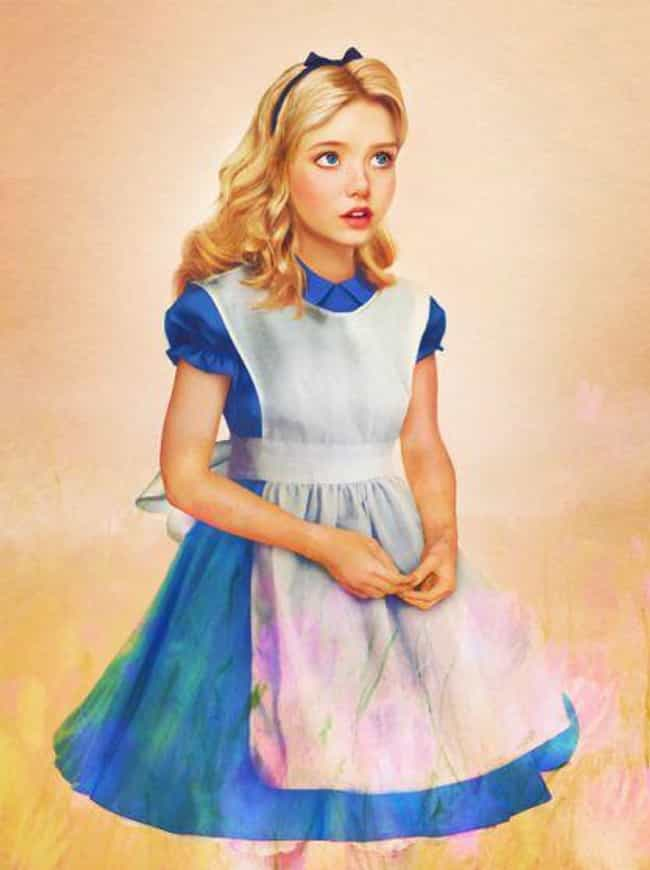 Alice, 'Alice in Wonderland' is listed (or ranked) 4 on the list What Your Favorite Disney Characters Look Like As Real People